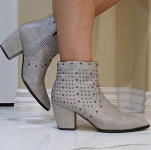 Gray studded anckle boots size 8.5 NEW